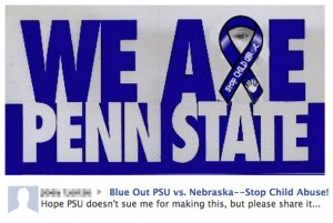 We Are Penn State with Blue Ribbon Facebook image