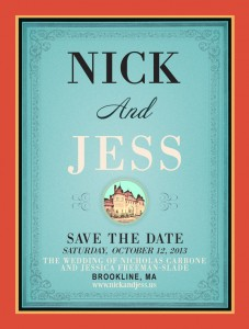 Jess and Nick's Save the Date Postcard
