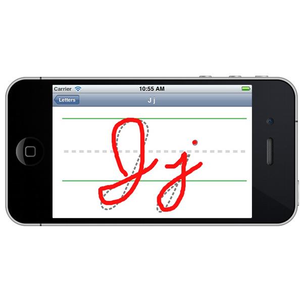 Practice screen on iOS app
