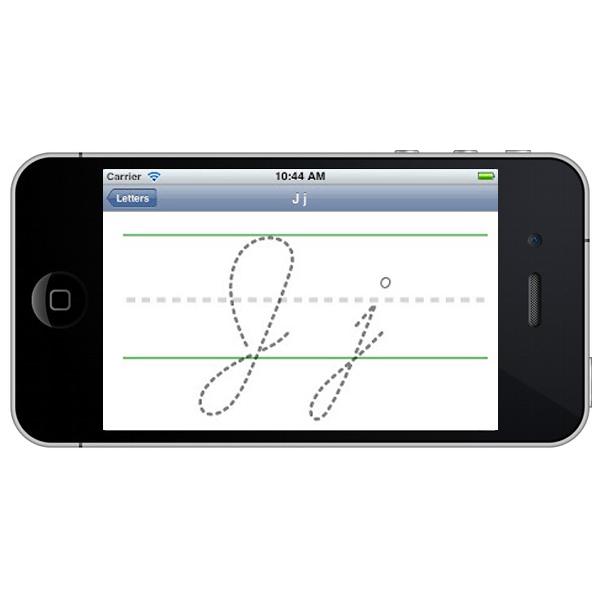 Blank cursive template for iOS app