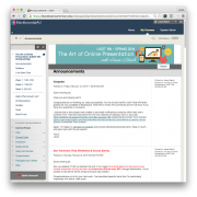 Screenshot of the course Blackboard site
