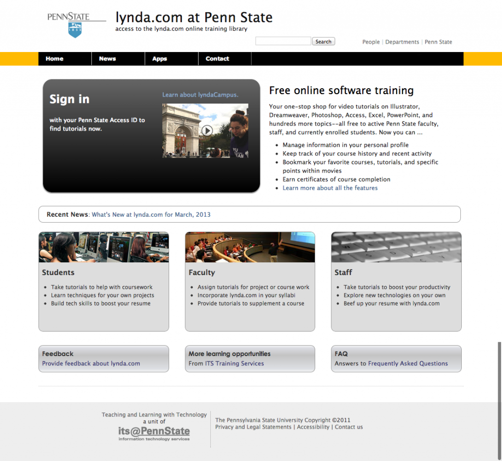 Original Lynda.com Screenshot