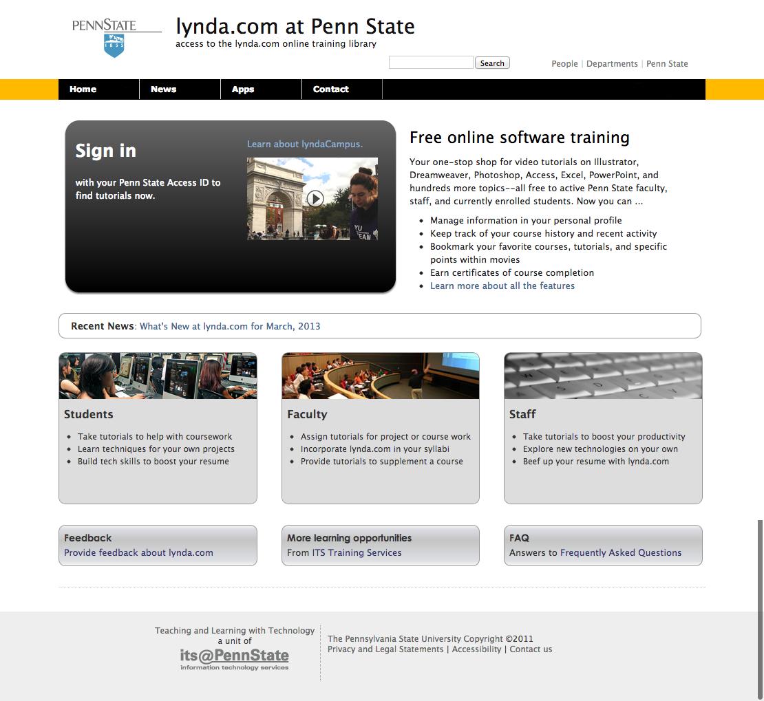 Original Lynda.com Screenshot