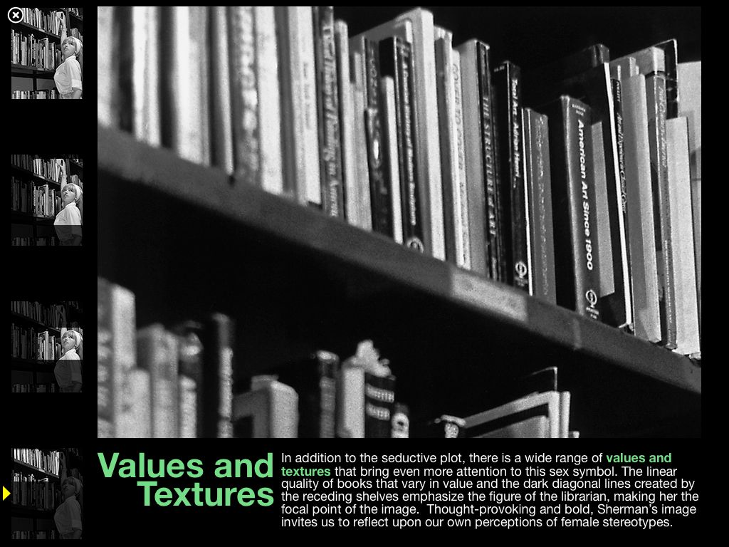 Values and Textures vocab discussed in context