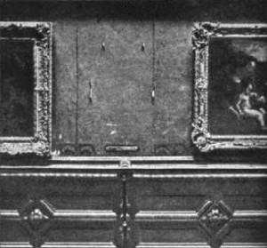 Mona Lisa's vacant wall space