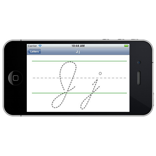 Blank cursive template for iOS app