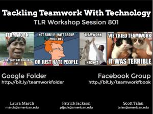 First slide of teamwork presentation