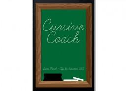 Cursive Coach App Mockup
