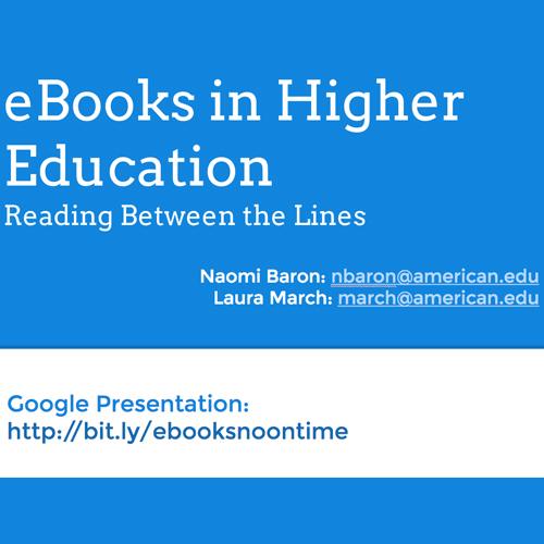 eBooks Presentation