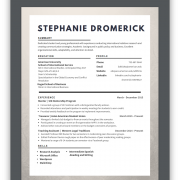 Screenshot of Stephanie's Resume