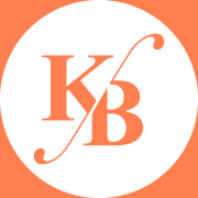 Orange and white KB logo