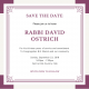Save the Date for Rabbi's Celebration