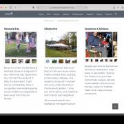 Boalsburg Events page screenshot