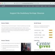 Boalsburg Support page screenshot