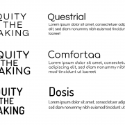 Logo and font designs