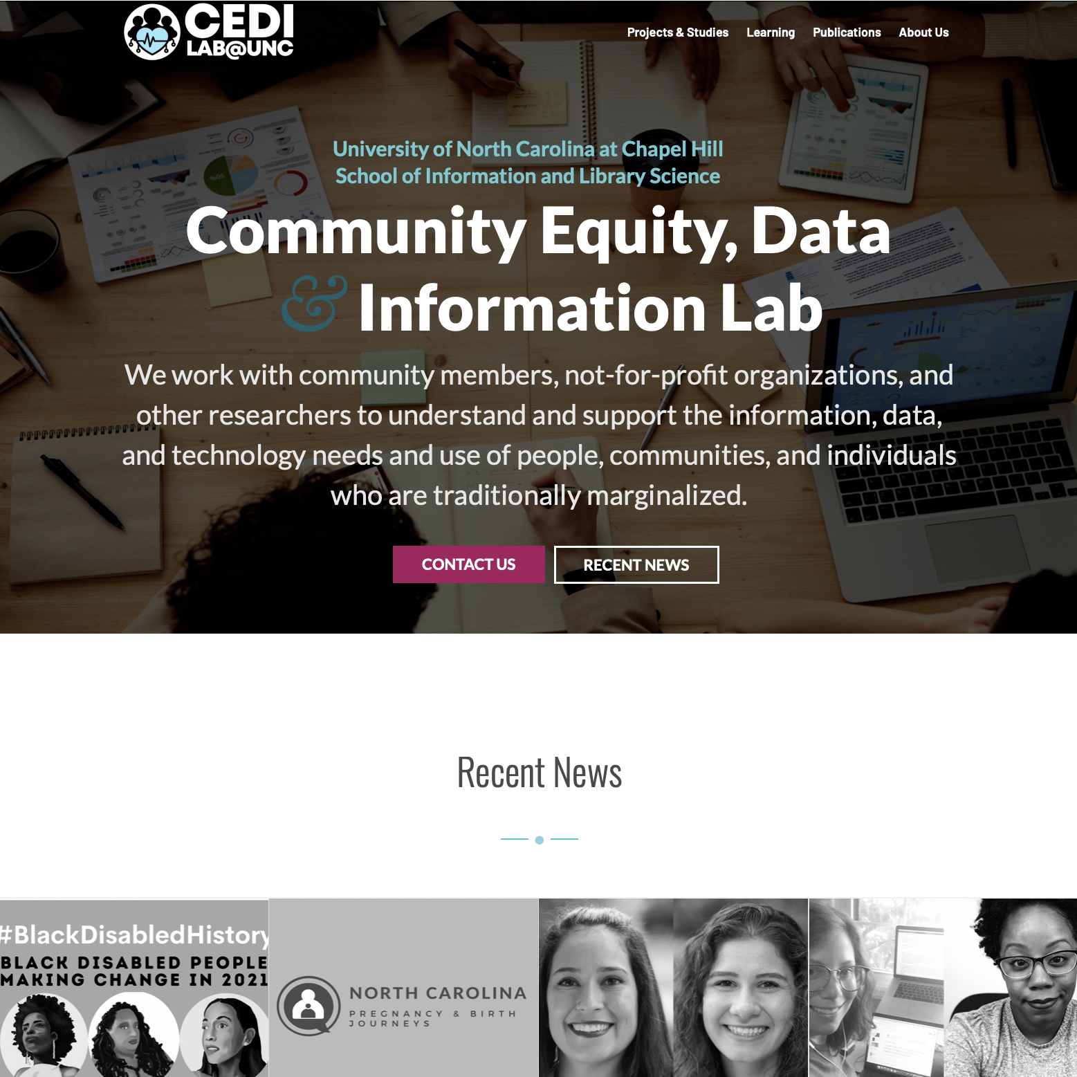 CEDI Homepage Redesigned